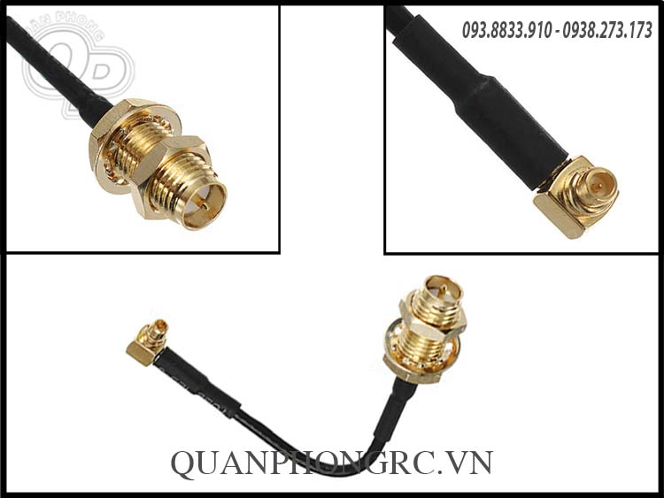 PandaRC MMCX to RP-SMA Female Adapter Connector Cable 70mm .