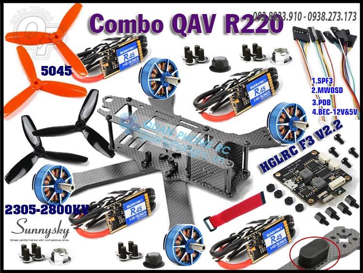 Combo PNP Quadcopter QAV R220